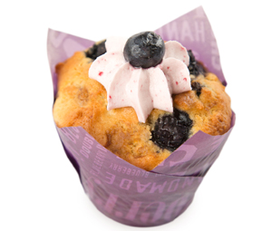 iced blueberry muffin